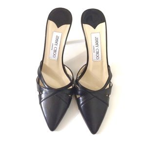 Jimmy Choo Black Pointed Toe Heels